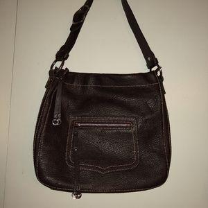 Barneys Newyork brown leather handbag.